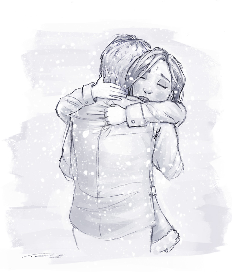 christmas-hug-sketch