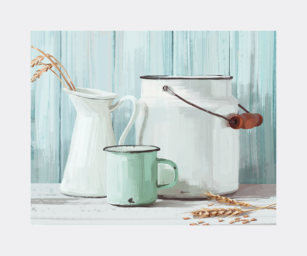 kitchen emaille decorative poster