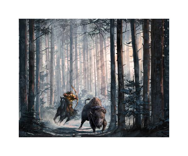 bison-indianer-pferd