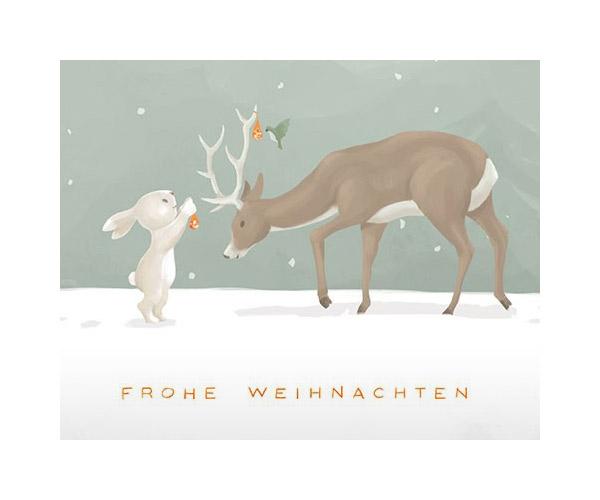weihnachtskarte-illustration-hase-reh