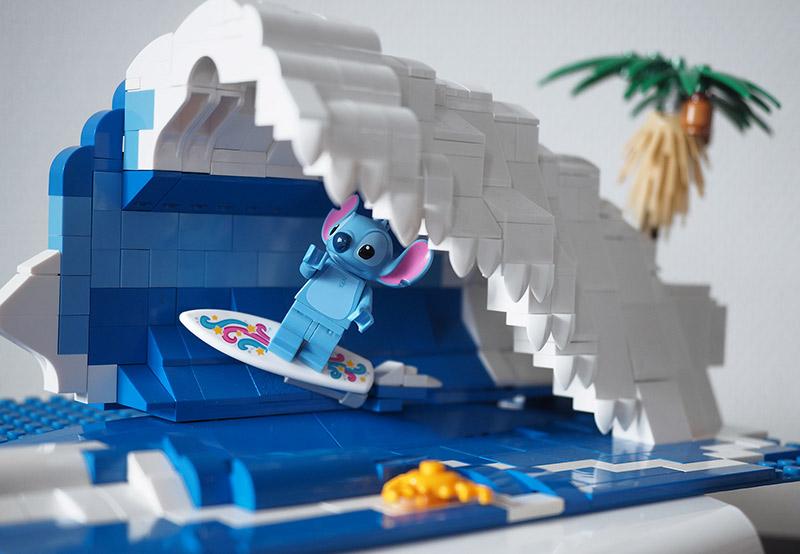 toy photography lego stitch