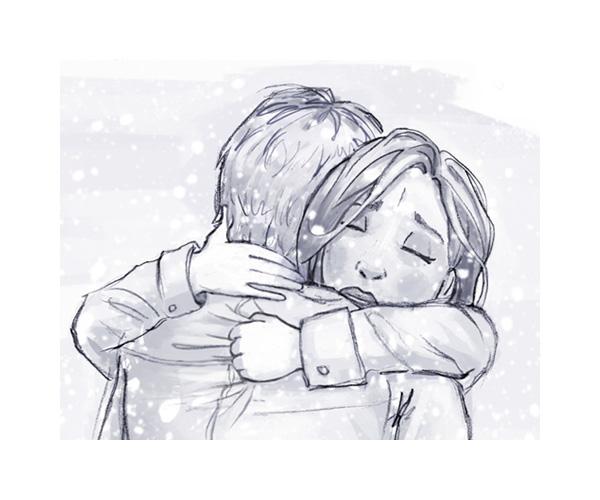tobiarts-a-hug-for-christmas illustration