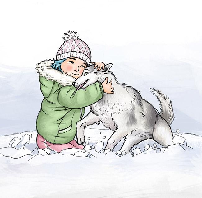 sketch-husky