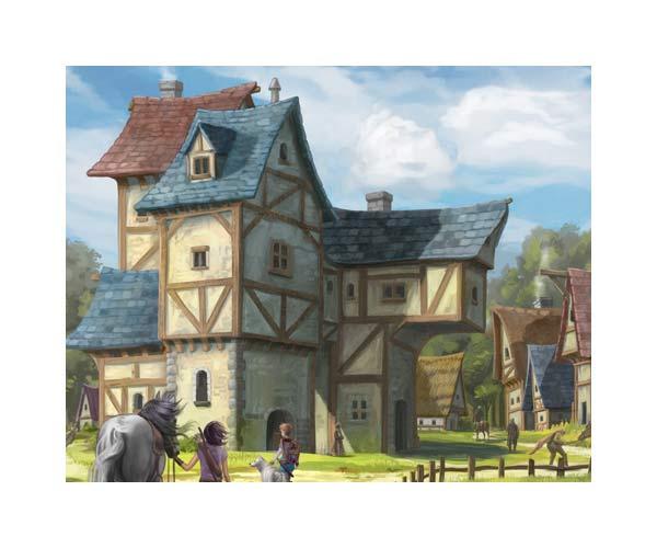 mittelalterliches-dorf-medieval-village