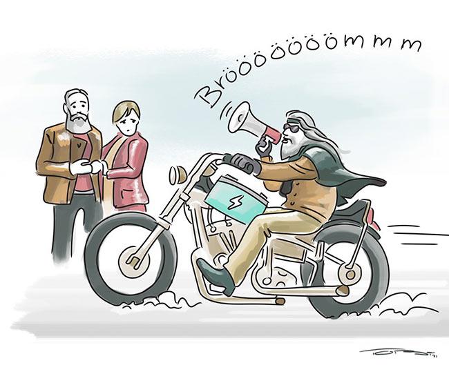 karikatur-harley-davidson